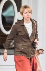 SCARLETT JOHANSSON on the Set of Untitled Noah Baumbach Project in Brooklyn 04/03/2018