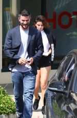 SELENA GOMEZ Leaves a Gym in Beverly Hills 04/02/2018