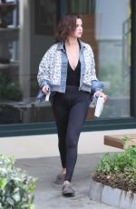SELENA GOMEZ Leaves Pilates Class in Los Angeles 04/03/2018