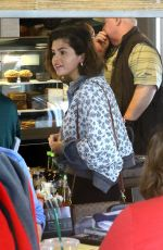 SELENA GOMEZ Out and About in Anaheim 04/04/2018