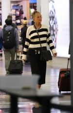 SHARON STONE at LAX Airport in Los Angeles 04/13/2018