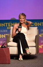 SHARON STONE at Mosaic Presentation at Contenders Emmys in Los Angeles 04/15/2018