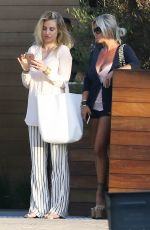 SHAUNA SAND Out for Lunch at Nobu in Malibu 04/14/2018