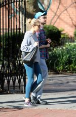 SIENNA MILLER and Tom Sturridge Out in New York 04/26/2018