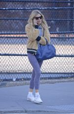 SIENNA MILLER Out in New York 04/11/2018