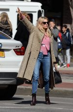 SIENNA MILLER Out in New York 04/18/2018