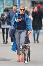 SIENNA MILLER Out with Her Dog in New York 04/12/2018