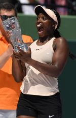 SLOANE STEPHENS Wins 2018 Miami Open in Key Biscayne 03/31/2018