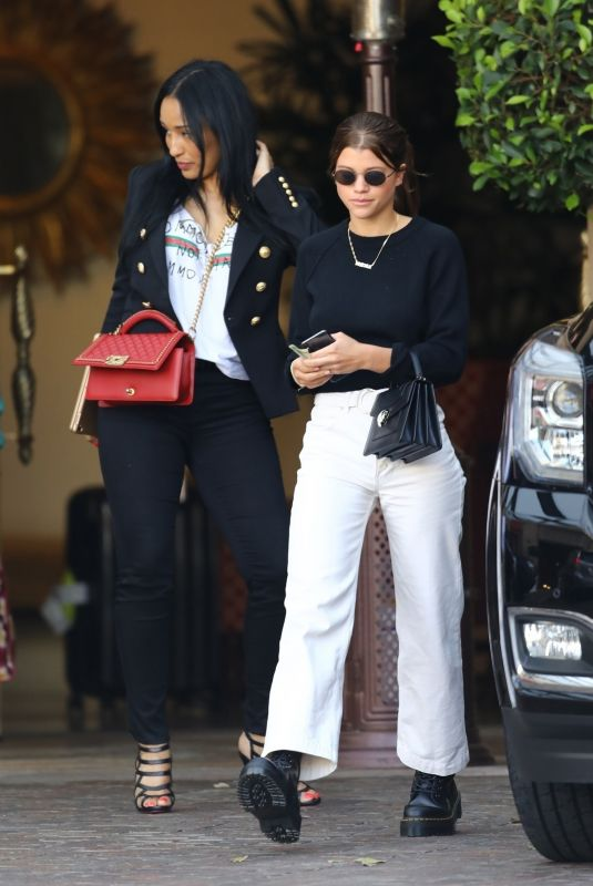 SOFIA RICHIE and LISA PARISA at Montage Hotel in Beverly Hills 04/02/2018