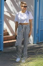 SOFIA RICHIE Leaves a Restaurant in Malibu 04/14/2018