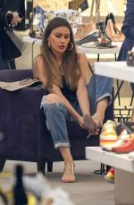 SOFIA VERGARA Shopping at Saks Fifth Avenue in Beverly Hills 04/20/2018