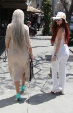 SOPHIA VEGAS WOLLERSHEIM and PHOEBE PRICE at Il Pastaio in Beverly Hills 04/24/2018
