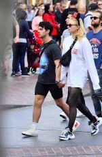 SOPHIE TURNER and Joe Jonas Out at Disneyland 04/06/2018