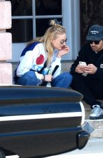 SOPHIE TURNER and Joe Jonas Out in Los Angeles 04/04/2018