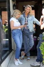 STACEY SOLOMON and LADY VICTORIA HERVEY at Tatiana Karelina West Hair Salon 04/20/2018