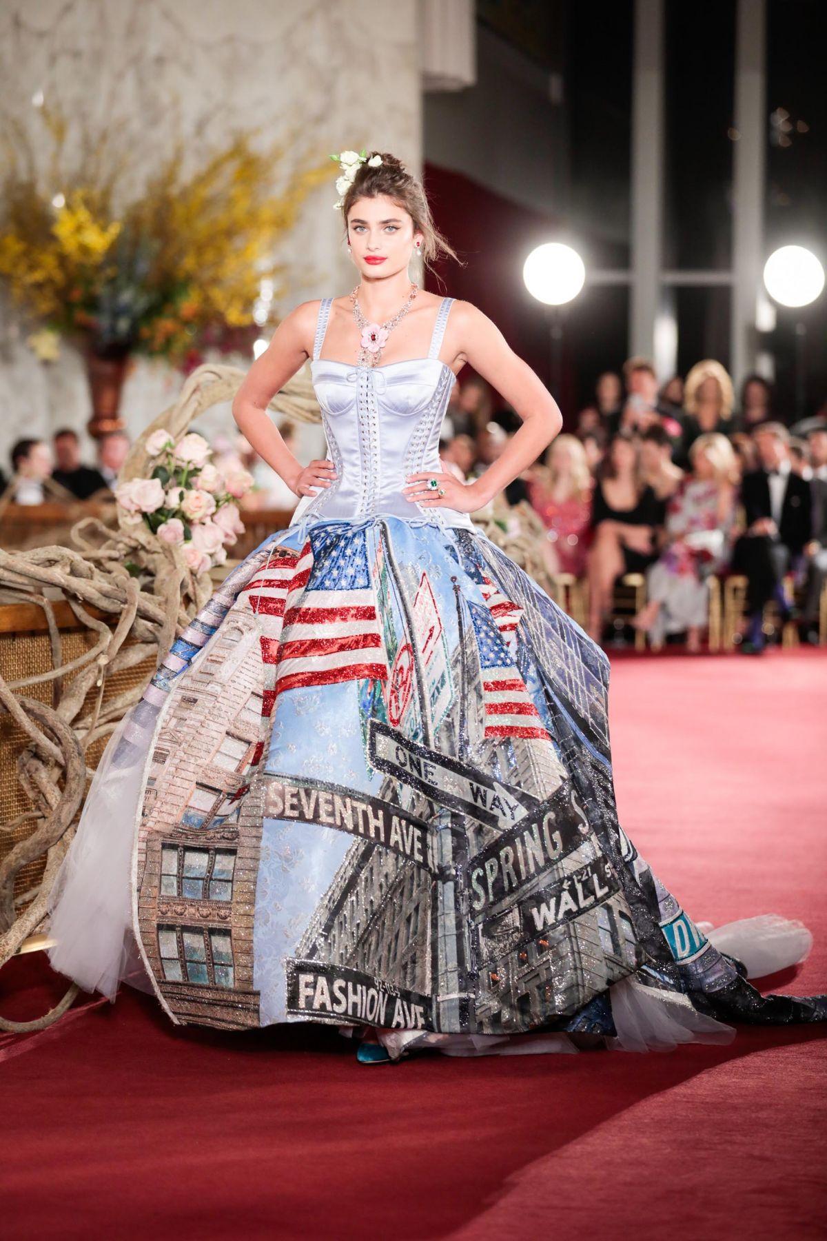 info for 5ab99 1e60c TAYLOR HILL at Dolce & Gabbana Alta Moda Fashion Show in New ...