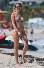 TETYANA VERYOVIKINA in Bikini at a Beach in Miami 04/26/2018