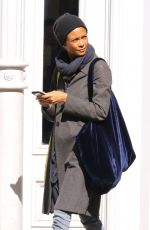 THANDIE NEWTON Out and About in New York 04/20/2018