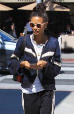THANDIE NEWTON Out for Lunch at Gratitude in Beverly Hills 04/17/2018