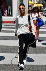 THANDIE NEWTON Out Shopping in Beverly Hills 04/23/2018