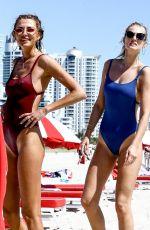 TONI GARRN and ALINA BAIKOVA at a Beach in Miami 04/02/2018