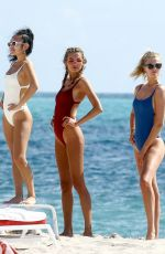 TONI GARRN and ALINA BAIKOVA at a Beach in Miami 04/02/2018