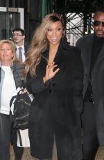 TYRA BANKS Leaves AOL Build Series in New York 04/03/2018
