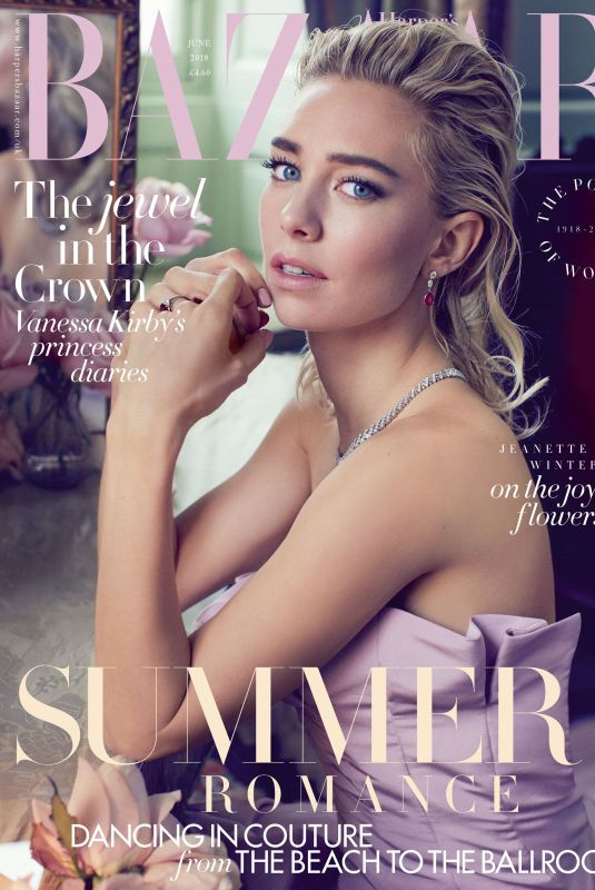 VANESSA KIRBY in Harper's Bazaar Magazine, UK June 2018