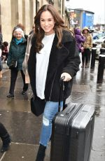 VICKY PATTISON Arrives at Train Station in Newcastle 03/31/2018