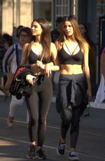 VICTORIA JUSTICE and MADISON REED Out at The Grove in Los Angeles 03/29/2018