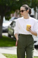 WILLA HOLLAND Out for a Coffee with Her Dog in Los Angeles 04/06/2018