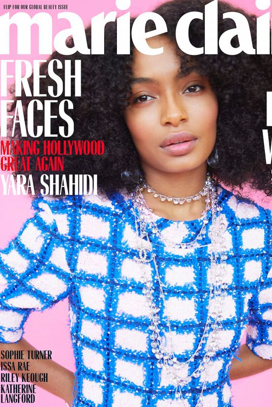 YARA SHAHIDI in Marie Claire Magazine, May 2018