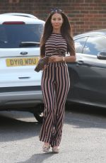 YAZMIN OUKHELOU Out in Woodford 04/25/2018