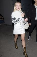 ZARA LARSSON Out for Dinner at Craig