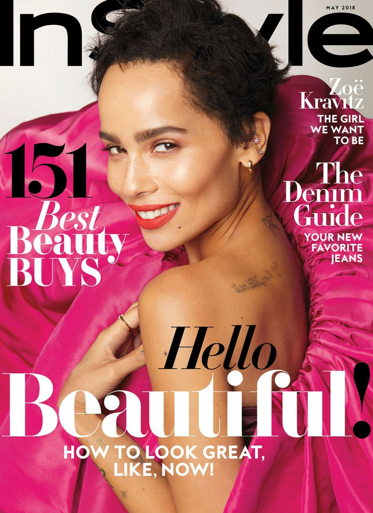 Instyle Magazine Us: ZOE KRAVITZ In Instyle Magazine, May 2018