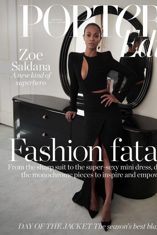 ZOE SALDANA in Porter Edit, April  2018