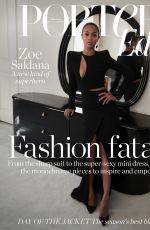 ZOE SALDANA in Porter Edit Magazine, April 2018 Issue