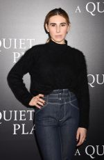 ZOSIA MAMET at A Quiet Place Premiere in New York 04/02/2018
