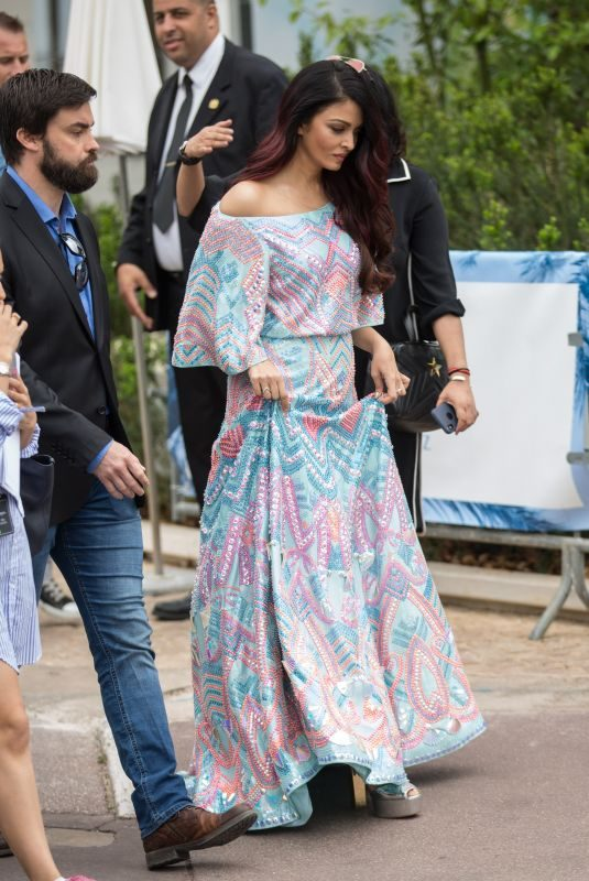 AISHWARYA RAI Out on Croisette in Cannes 05/12/2018