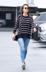 ALESSANDRA AMBROSIO Heading to a Sports Medical Appointment in Los Angeles 05/23/2018