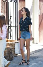 ALESSANDRA AMBROSIO in Cut Off Denim Out in Brentwood 05/04/2018