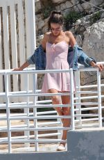 ALESSANDRA AMBROSIO on the Set of a Photoshoot at Eden Roc Hotel in Antibes 05/18/2018