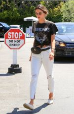 ALESSANDRA AMBROSIO Out for Coffee in Brentwood 05/03/2018