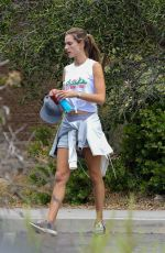 ALESSANDRA AMBROSIO Out Hiking in Los Liones in Pacific Palisades 05/26/2018