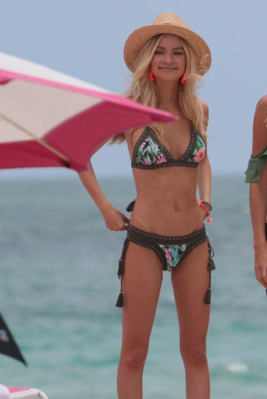 ALEXA COLLINS in Bikini on the Set of Photoshoot in Miami 05/03/2018