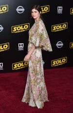 ALEXANDRA DADDARIO at Solo: A Star Wars Story Premiere in Los Angeles 05/10/2018