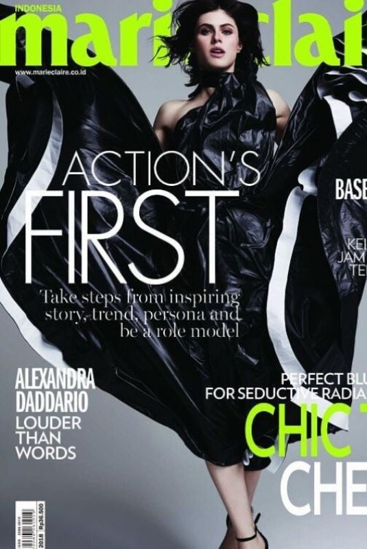ALEXANDRA DADDARIO in Marie Claire Magazine, Indonesia May 2018 Issue