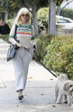 ALICE EVE Out with Her Dog in Los Angeles 05/29/2018