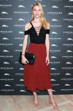 ALINE WEBER at Longchamp Fifth Avenue Store Opening in New York 05/03/2018