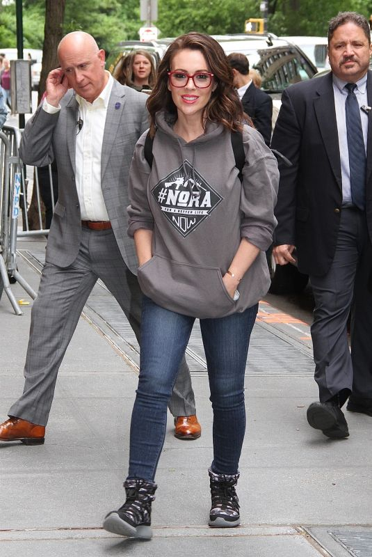ALYSSA MILANO Arrives at The View in New York 05/18/2018